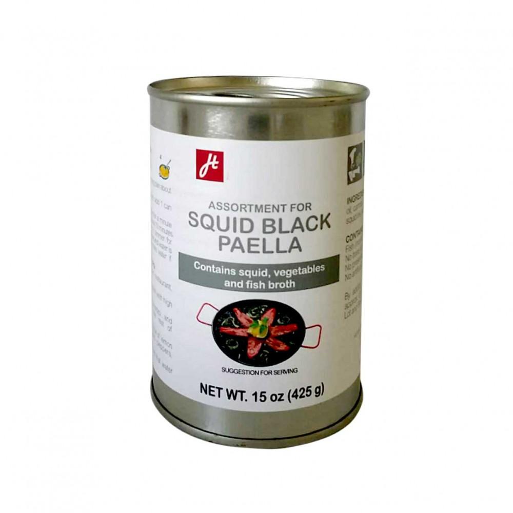 Sortiment für Paella de Arroz negro - Meeresfrüchte & chorizo